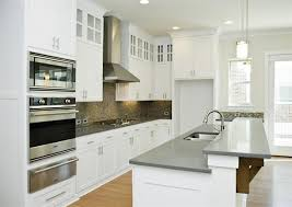 quartz kitchen countertops white cabinets. White Cabinets With Gray Quartz Countertops For Kitchen E