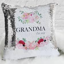 custom gifts grandma name personalized decorative sequin throw pillowcase now