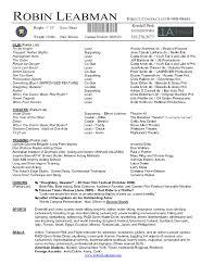 Actor Resume Template Microsoft Word Http Www Resumecareer