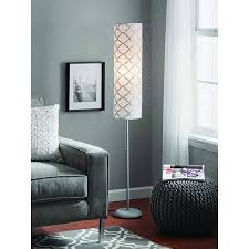 Paper Shade Floor Lamp Gorgeous Mainstays 60 Metallic Silver Rice Paper Shade Floor Lamp Silver