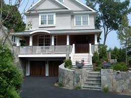 Drive Under Basement Above Ground Basement Garage With Porch - House with basement garage