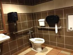 public bathroom sink. Where There Is 1 Toilet, Sink, And Hand Towel Dispenser, Like Shown In  The Picture. No Automated Sensors Or Anything Special. Cleaning Bathroom Public Sink I