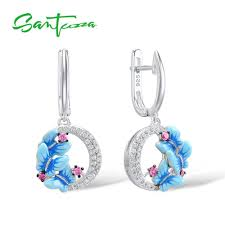 <b>SANTUZZA Silver Earrings For</b> Women 925 Sterling Silver Delicate ...