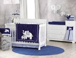 Koala Baby First Love 4 Piece Crib Bedding Set Elephant Navy