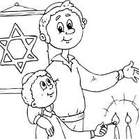 Small Picture Jewish Coloring Pages Surfnetkids
