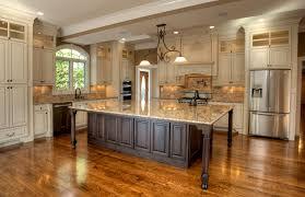 big kitchen island with seating