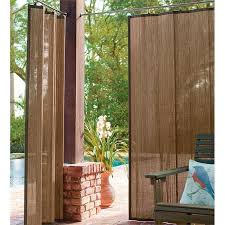outdoor bamboo curtain panel 40 w x 63 l collection accessories with shades plan 19