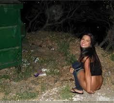 Girls pissing at night