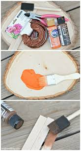 Add some color and whimsy to your Fall Decor with these easy and adorable  Painted Wood