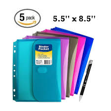 mini binder 2 inch 5 pack c line super heavyweight mini poly binder pocket with