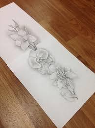 сделать татуировку орхидеи на бедро 9x40 см в городе новосибирск по