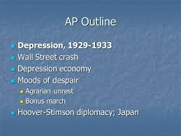 hoover and the great depression ppt video online ap outline depression 1929 1933 wall street crash depression economy
