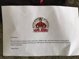tennessee teen gets accepted into yale after writing an essay  after she tweeted papa john s to let them know that her essay about their pizza got her into yale the company wrote back