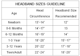 Mic Key Button Size Chart Headband Sizes Chart Crochet Hats Baby Headbands Crochet