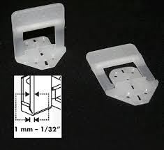 raimondi 100pcs pack of 1mm width joint size base clips for tile levelling system pt