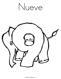 Small Picture Number 9 Coloring Pages Twisty Noodle