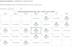 Air New Zealand Award Chart Rare Air New Zealand Business Class Awards One Mile At A Time