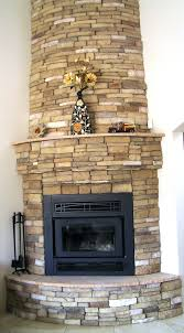 stacked stone veneer fireplace cost surround pictures