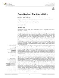 Pdf Book Review The Animal Mind