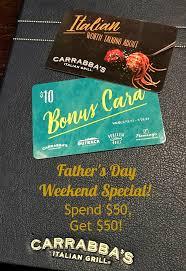 carrabbas gift card balance photo 1
