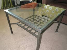 glass coffee table ikea lovely coffee table smoke pet free home glass top metal base black