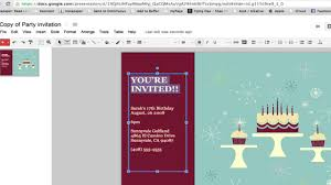 invitation t how to create a party invitation in google documents google
