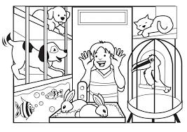 Disegno Da Colorare Negozio Degli Animali Cat 7080 Images