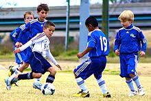 Футбол Википедия Играющие в футбол дети