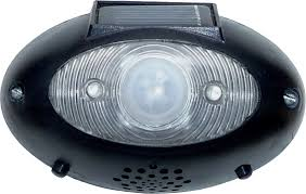 eyewatch outdoor wireless solar security motion alarm detector black set of 1