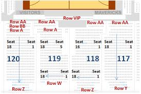 Mavericks Seating Chart Rows Dallas Mavericks Seating Chart American Airlines Center