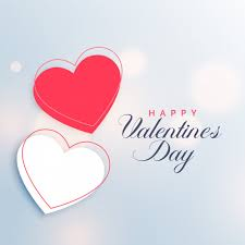 free vector red and white two hearts