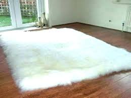 faux fur rug 5x7 round sheepskin white fluffy area rugs outstanding plush modern black faux fur rug 5x7