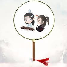 Quạt tròn cổ trang anime chibi Ma đạo tổ sư Lam Vong Cơ Ngụy Vô Tiện phim  Trần Tình Lệnh phong cách cổ điển tặng ảnh Vcone