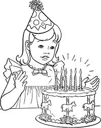 Small Picture Birthday Girl Coloring Pages Coloring Pages
