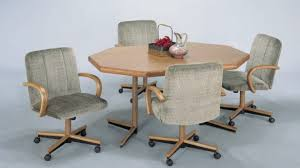 neat design rolling dining room chairs excellent table and with casters kinsleymeeting brilliant captivating sets caster designs