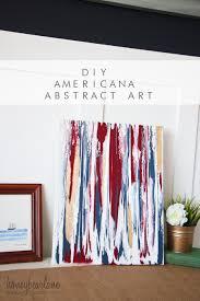 Americana DIY Abstract Art