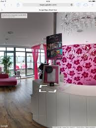 interactive website for vanity rooms salon digital business
