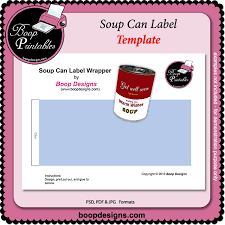 Soup Can Label Template By Boop Printable Designs Soup Can Label ...