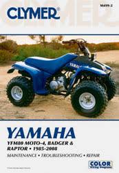 yamaha atv manuals diy repair manuals clymer yamaha yfm80 moto 4 badger and raptor atv 1985 2008 service