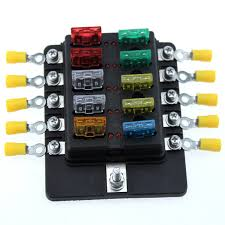 10 way car blade fuse box rv truck marine boat fuse block with fuse fuse box in cab 2002 f150 supercrew 10 way car blade fuse box rv truck marine boat fuse block with fuse spade terminals