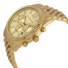 michael kors lexington chronograph champagne dial mens watch item specifics