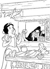 Small Picture Snow White With The Wicked Witch Coloring Pages Snow White