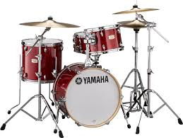 yamaha stage custom. yamaha stage custom bebop 3-piece shell pack - cranberry red image 1