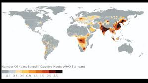World Pollution Chart You Could Live Longer If Your Country Reduced Pollution To
