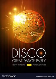 Disco Party Flyer Templatr With Mirror Ball Stage