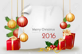 Blank Christmas Background Blank Christmas Background With Red Golden Gifts And Christmas