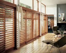 wooden sliding doors blinds