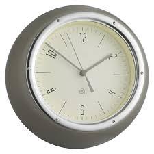 delia grey metal wall clock