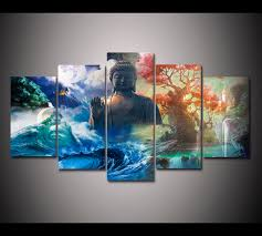 Depending upon the design that you choose, they can be the perfect subtle piece to compliment a room's decor, or a dominant statement piece to decorate a store, restaurant, office. Hd Print 5 Panels Feng Shui Canvas Wall Art Landscape Buddha Painting Home Decor Wall Art Picture For Living Room Decor Pt1653 Painting Calligraphy Aliexpress