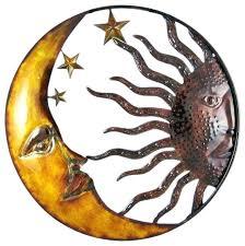 metal moon wall art sun moon wall art sun and moon metal wall art celestial hand metal moon wall art
